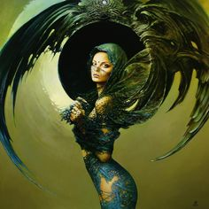 Kai Fine Art is an art website, shows painting and illustration works all over the world. Blue Painting, Painting & Drawing, Inspiration Art, Angels And Demons, Fine Art, Fantasy Girl, Oeuvre D'art, Female Art, Amazing Art