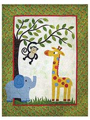 applique animal baby quilts | Baby Quilt Pattern Adorable Animal Applique Jack's Jungle Quilt ...