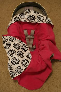 Carseat Infant Swaddle Blanket fleece and flannel by DesignsbyRomy, $30.00