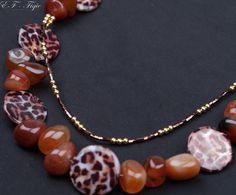 Necklace with agate stones mother of pearl and mayaki by Schoolery, $105.00 Agate Stone, Pearl Necklace, Stones, Beaded Bracelets, Pearls, Trending Outfits, Unique Jewelry, Handmade Gifts, Etsy
