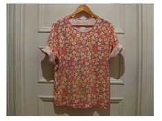80s floral tshirt  pink retro vintage hipster top by EcoCentrik #eco friendly clothing #shabby chic #floral tshirt www.etsy.com/shop/ecocentrik