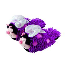 Aroma Home USA - Fuzzy Friends Slippers Purple Butterfly
