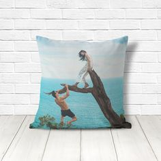 Custom throw pillow cover with an optional insert, printed with your own picture.  Size options: 14x14, 16x16, 18x18, 20x20, or 26x26.  Please note I recommend a picture where what you want to portray is centered and not close to the edges. If your image is not ideal, I will contact you for a