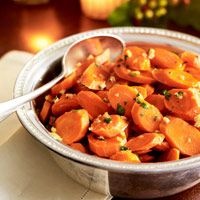 Try these maple-ginger glazed carrots for your Thanksgiving table.