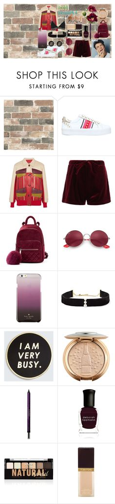 """""""Untitled #262"""" by mihaelamarula on Polyvore featuring Wall Pops!, Carvela, Prada, Ray-Ban, Kate Spade, Anissa Kermiche, ban.do, By Terry, Deborah Lippmann and NYX"""