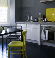 gray and yellow and white palette  Behr  Sunny Summer  S-G-380    Valspar  Mountain Smoke  6004-213