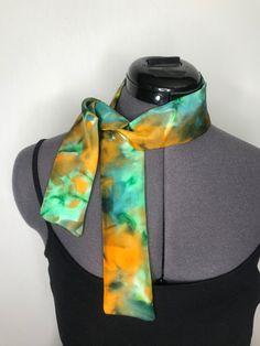 Scarf Dress, Silk Dress, Instagram Shop, Silk Scarves, Pure Silk, Wearable Art, North America, Tunic, Hand Painted