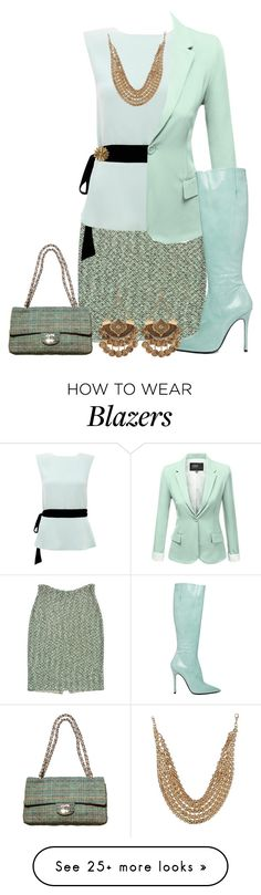 """tweed"" by kim-coffey-harlow on Polyvore featuring Mode, St. John, Raoul, Chanel, J.TOMSON und Yang Li"