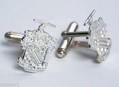 Phi Delta Theta Sterling Silver Crest Cufflinks available in Good Things From Louisiana, an ebay store.