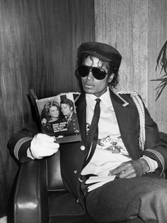Michael reading about himself