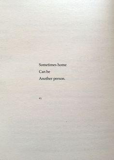 I need my home.
