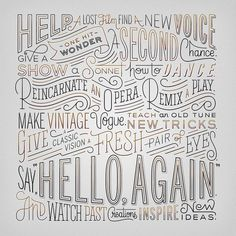 Lettering by Erik Marinovich.Awesome lettering and superb thought! Typography Love, Typography Letters, Graphic Design Typography, Lettering Design, Graphic Art, Inspiration Typographie, Hand Drawn Type, Hand Type, Types Of Lettering