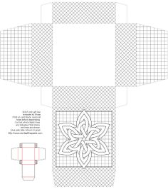 Snowknot gift box to print, color and make- also available in blue for no coloring required print and make!