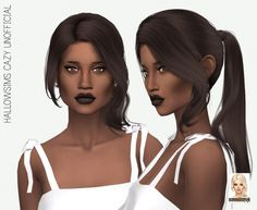 Miss Paraply: Cazy`s Unofficial hair retextured: solid colors • Sims 4 Downloads