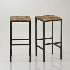 "2er-Set Barhocker ""Hiba"", quadratisch La Redoute Interieurs - Stuhl, Hocker"