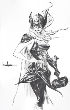 Black Cat, Captain America, Spider-Man: Green Goblin Triumphant and The Mighty Thor by Jae Lee * Comic Book Artists, Comic Artist, Comic Books Art, New Thor, Loki Thor, Marvel Comics Art, Marvel Heroes, Thor Valkyrie, Lady Loki