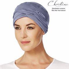 Femmes Foulard//bonnet bleus M-gris coton idéal comme chemomütze Alopécie
