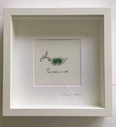 Peas in a pod sea glass art