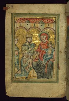 Adoration of the Magi-----Monastery in the Diocese of Augsburg, mid 13th century (calendar and litany)