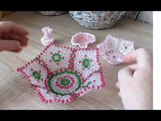 Easter basket of beads - DIY Pearl Crafts, Beaded Crafts, Beaded Ornaments, Diy Bracelets Easy, Bracelet Crafts, Bead Bowl, Seed Bead Art, Beaded Boxes, Beaded Brooch