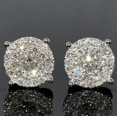 Gorgeous diamond earrings. ~ 35 Pieces Of Gorgeous Jewelery - Style Estate -