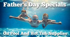 Father's Day Specials On Pool And Hot Tub Supplies For the Summer Season! Save big on all automatic pool vacuums, chemicals, hot tub covers, heaters, bromine, filters and more! Get over $200 worth of online coupons you can use on your order today! Free shipping. Fast delivery. All on sale this week at PoolAndSpa.com! Swimming Pool Cleaners, Swimming Pools, Automatic Pool Vacuum, Hot Tub Cover, Father's Day Specials, Online Coupons, Pool Cleaning, Vacuums, Fathers Day