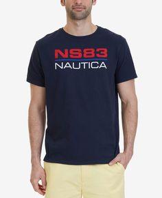 Nautica Men s Logo Graphic Print Cotton T-Shirt 073d304b1864f
