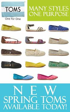 Foto: NEW SPRING TOMS ARE IN AT PENELOPE!   Ballets Flats, Classics, Sandals, Wedges and much more!  Come and see the new collection at Penelope in Lynchburg, Forest, Daleville, Farmville, Virginia Center, and Midlothian today!