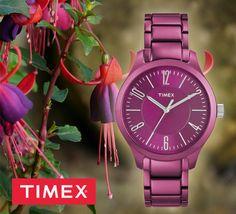 ultralekki zegarek damski Timex w kolorze fuksji #zegarek #zegarki #Timex