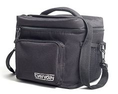 Insulated Lunch Bag Black  Freezer Safe Nylon Durability Zip Closure  Cooler Lunch Bag for Men Women and Kids  Locks in Heat  Cold -- Read more  at the image link.