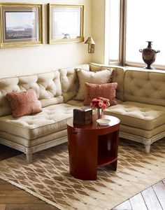trend: tufted - great tufted banquette by David Easton. A classic solution we used on many of his projects. - Inson Wood
