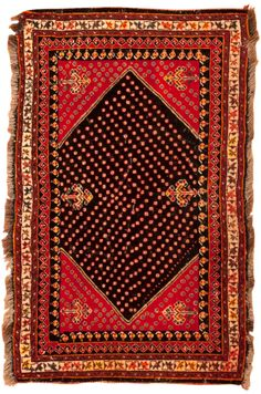 View this beautiful Antique Qashqai Persian Rug 45260 from Nazmiyal's fine antique rugs and decorative carpet collection.
