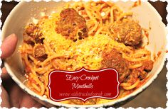 This last recipe for the next freezer to slow cooker meal plan is probably the most time consuming. Don't worry though, it's not THAT bad, it's just because you're rolling out little meatballs (or in our case, slightly bigger than they should be meatballs!). The original recipe called for you to cook the meatballs in the slow cooker with spaghetti sauce over the top. But, I just happened to use