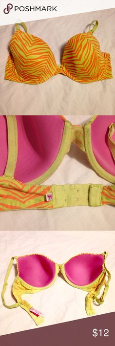 PINK Wear Everywhere Lightly Lined Bra Size 36D, no padding. Good condition, just don't wear anymore. A little wrinkled from being in storage. No trades or lowball offers. PINK Victoria's Secret Intimates & Sleepwear Bras