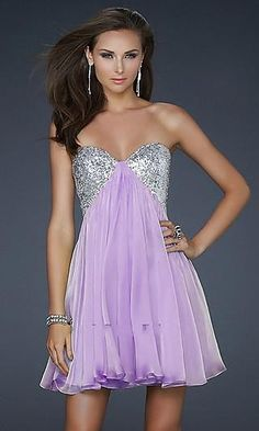 I'd like this better if the purple was a darker color, but it's still a pretty dress.