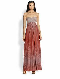 Diane von Furstenberg - Adrianna Silk Chiffon Maxi Dress - Saks.com