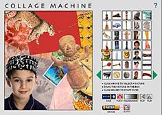 collage machine  and many other online art activities.  Great!