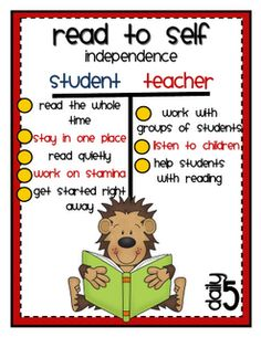 anchor charts for read to self