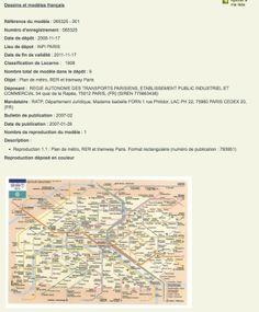 Le métro est à tout le monde, pas sa carte La RATP a bien déposé le dessin de la carte du métro parisien —ainsi que celle du réseau RER, des zones couvertes par la Carte Orange, du réseau de bus et de Noctambus— auprès de l'Institut national de la propriété industrielle (pour les retrouver, allez sur la base de données, cliquez sur recherche avancée et tapez le n°du dossier, 065325). Ce qui confère à la Régie un monopole sur son utilisation.
