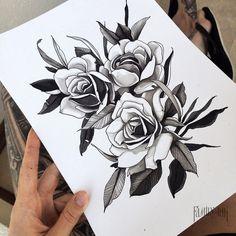Roses sketch  #familyink #rosesdrawing #copicart