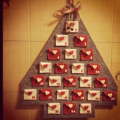 Photo Christmas Tree, Merry Christmas, Christmas Countdown, Christmas Time, Diy Crafts For School, Felt Crafts, Holiday Crafts, Cool Advent Calendars, Diy Advent Calendar