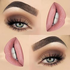 20 Top Exclusive Eye Shadow and Lip Makeup Appearance 20 Top exklusives Lidschatten- und Lippen-Make-up Natural Eye Makeup, Eye Makeup Tips, Smokey Eye Makeup, Makeup Inspo, Makeup Inspiration, Makeup Ideas, Soft Makeup, Makeup Kit, Makeup Trends