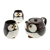 This owl tea set is just too adorable! You'll want to increase your intake of tea, just to be able to use it.....  Uncommongoods.com
