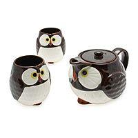 OWL TEA SET|UncommonGoods