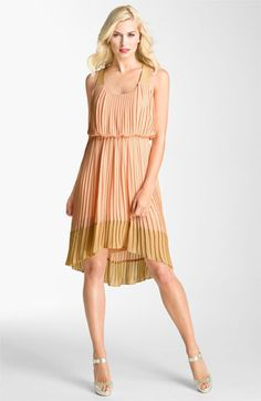 Jessica Simpson Pleated Chiffon Dress available at #Nordstrom