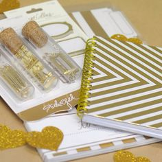 Introducing 'Studio Gold' designed by Teresa Collins. This snazzy stationery makes an excellent gift for a stylish loved one or for yourself! www.thepaperempire.com.au