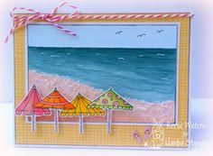 Beach 'Brellas rubber image by Kecia Waters