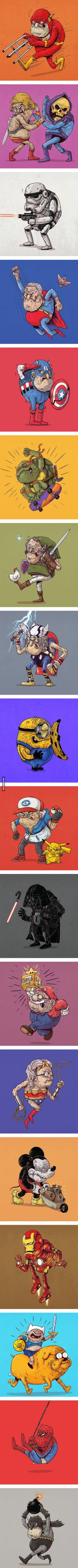If Pop Culture Icons Grew Old… (By Alex Solis)