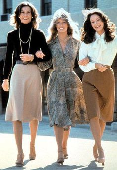 TV show fashion history - Charlies Angels. Wow...for work, I dress like the woman on the left. Does this mean I am stuck in the 70s?