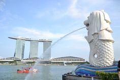 Marina Bay Sands Hotel & Merlion, Singapore